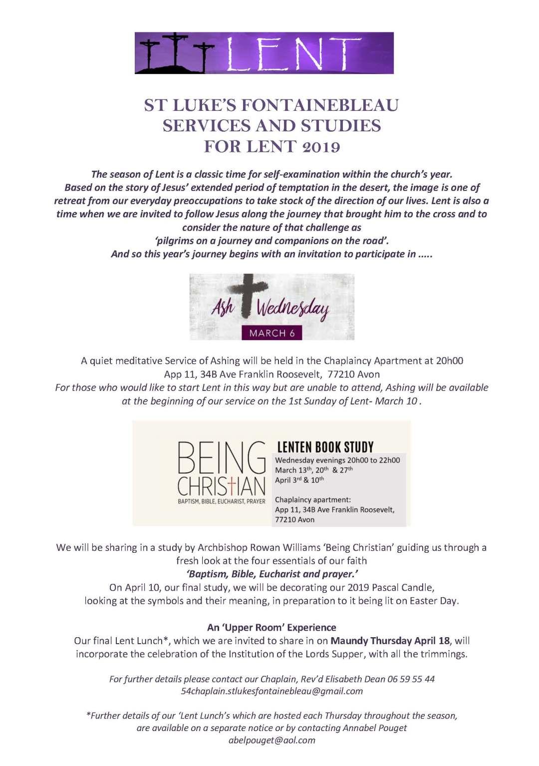 SERVICES AND STUDIES LENT 2019 (2)